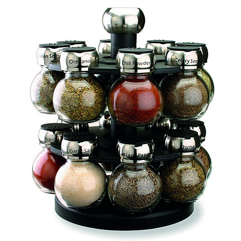 Olde Thompson - Chrome 16 jar orbit spice rack