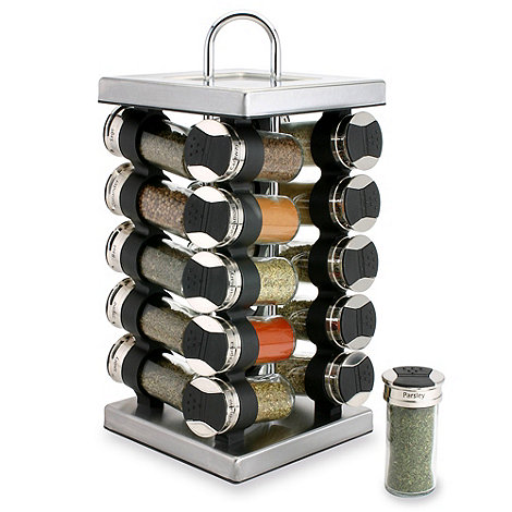 Olde Thompson - Chrome 20 jar square spice rack