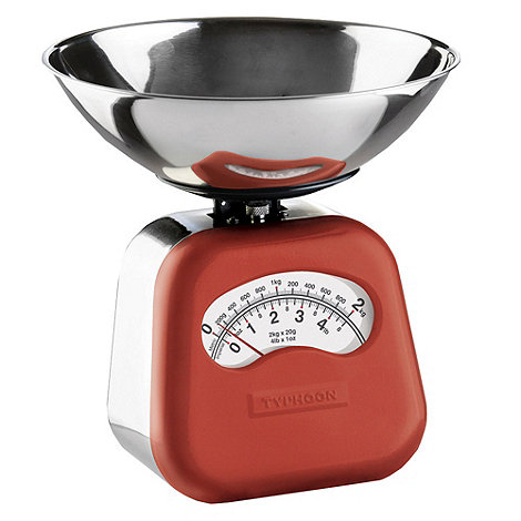 Typhoon - Stainless steel red +Novo+ mechanical kitchen scales