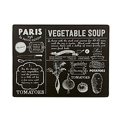 Debenhams - Glass 'Vegetable Soup' worktop saver