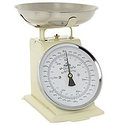 Debenhams - Cream 3kg mechanical scales