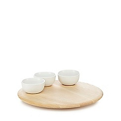 RJR.John Rocha - Beige lazy Susan with dipping dishes