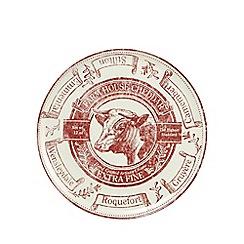 Debenhams - Red printed large cheese plate