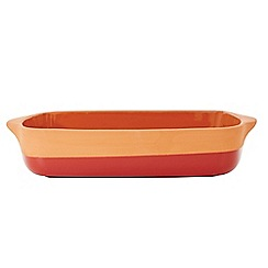 Jamie Oliver - Red terracotta rustic lasagne dish