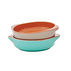 Jamie Oliver - Set of 2 terracotta mini al forno dishes