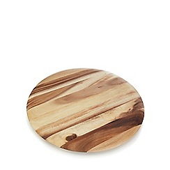 RJR.John Rocha - Brown 'Acacia' wood lazy susan