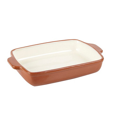 Debenhams - Ceramic cream small rectangle lasagne dish