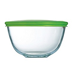 Pyrex - Glass 0.5l bowl with lid