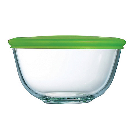 Pyrex - Glass 1l bowl with lid