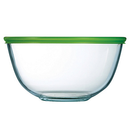 Pyrex - Glass 2l bowl with lid