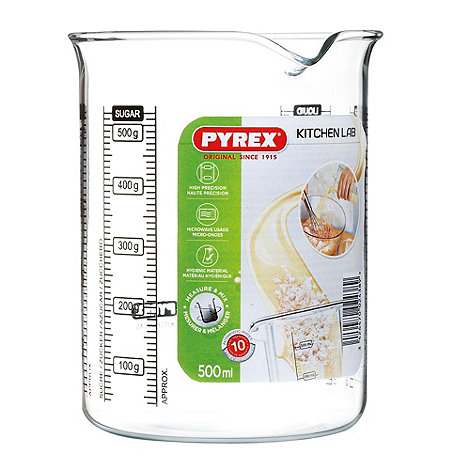 Pyrex - Glass 0.5l kitchen lab beaker