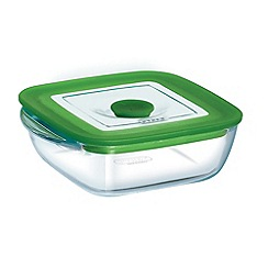 Pyrex - Glass 0.3l square dish with lid
