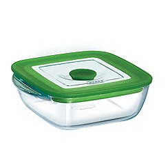 Pyrex - Glass 1l square dish with lid