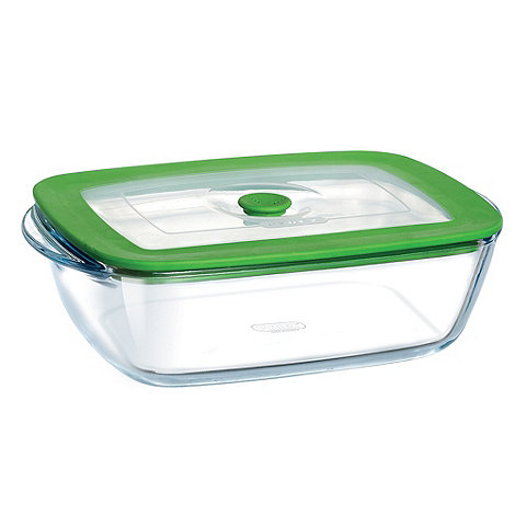 Pyrex - Glass 1l rectangular dish with lid