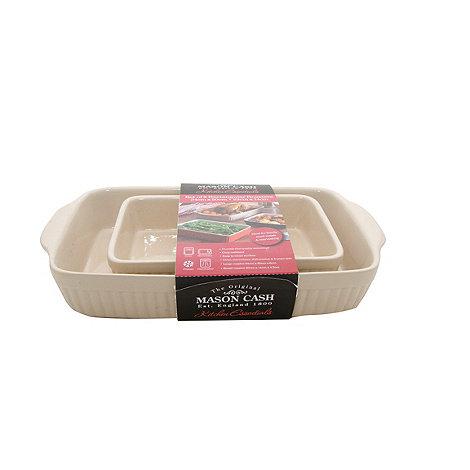 Mason Cash - Cream set of 2 rectangular roasting dishes