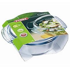 Pyrex - Glass 1.5l easy grip round casserole dish