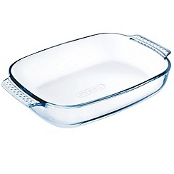 Pyrex - Glass easy grip rectangle roasting dish