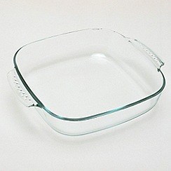 Pyrex - Glass easy grip square roasting dish