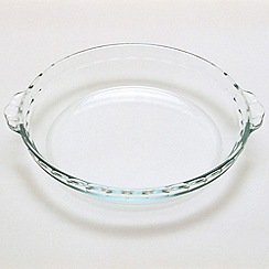 Pyrex - Glass 1.1l fluted cake dish with handles