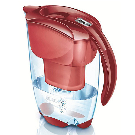 Brita - Red Elemaris water filter with 4 cartridges