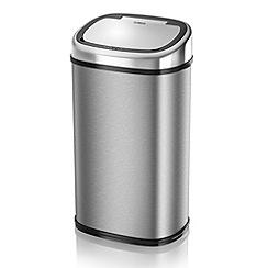 Tower - Stainless steel 58L square sensor bin