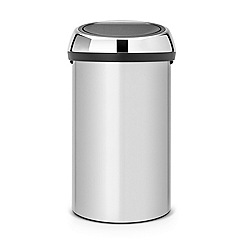 Brabantia - Metallic grey brilliant steel lid 60L touch bin