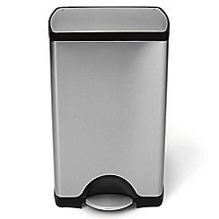 Simplehuman - 38 litre rectangular pedal bin