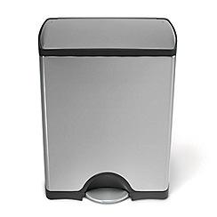 Simplehuman - 50 litre rectangular pedal bin