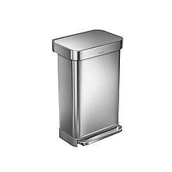 Simplehuman - 45L rectangular pedal bin