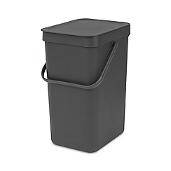 Brabantia - Grey sort and go compact 12L bin
