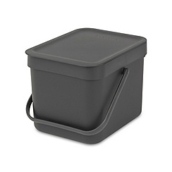 Brabantia - Grey sort and go compact 6L bin