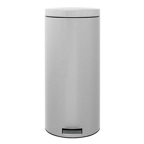 Brabantia - Metallic grey 30 litre pedal bin