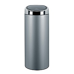 Brabantia - Metallic grey 30 litre touch bin