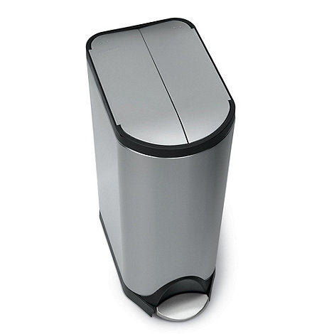 Simplehuman - Stainless steel 30L brushed stainless steel butterfly bin