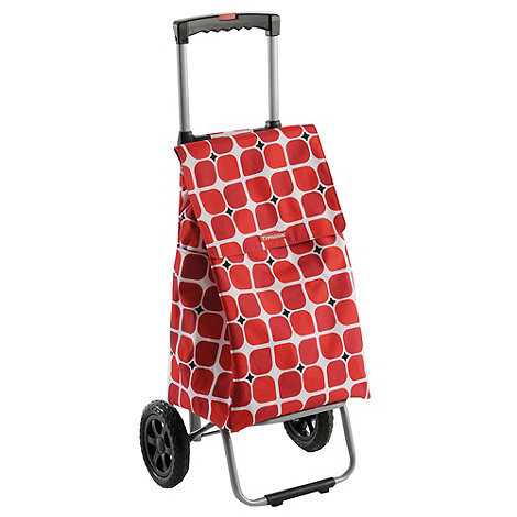 Typhoon - Red large squares shopping trolley