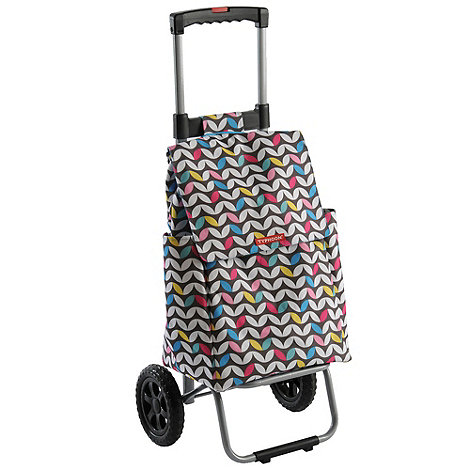 Typhoon - Black large zig zag shopping trolley