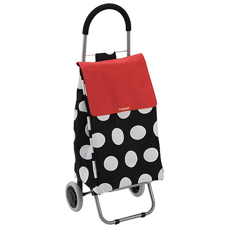 Typhoon - Black large spot shopping trolley