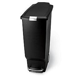 Simplehuman - Slim black 40L bin