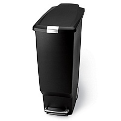 Simplehuman - Black Plastic Slim 40 Litre Bin