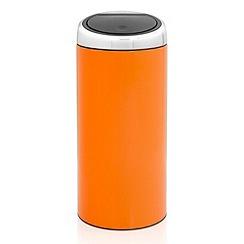 Brabantia - Orange 30 litre touch bin chrome