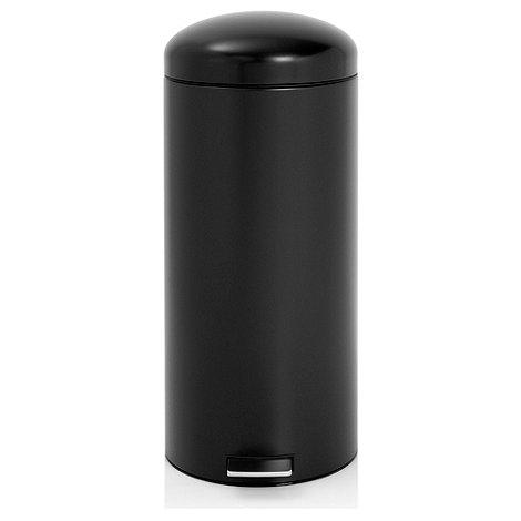 Brabantia - Matt black 30 litre retro pedal bin
