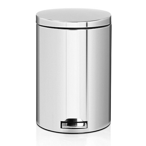 Brabantia - Brilliant steel 20 litre pedal bin with food trap