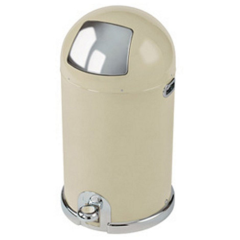 Typhoon - Cream steel 40 litre capsule bin