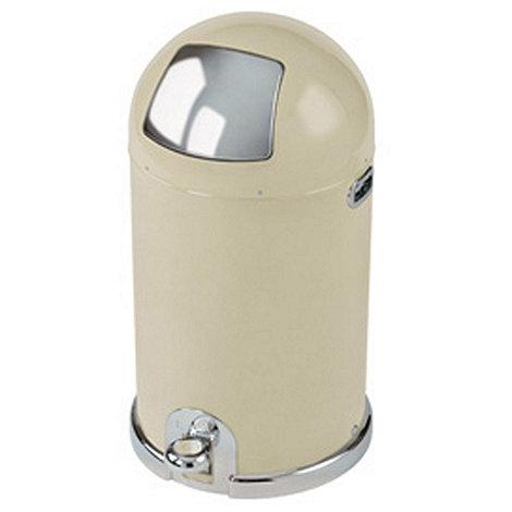 Typhoon - Cream steel 40 litre capsule bin