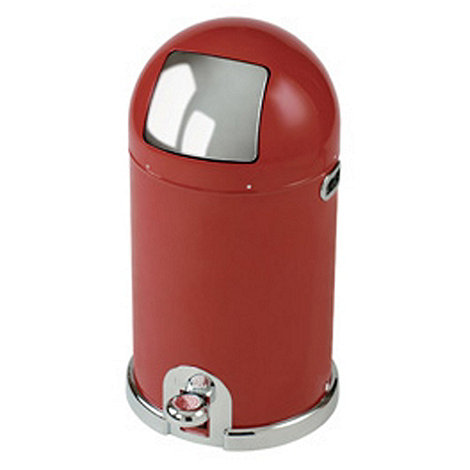 Typhoon - Red steel 33 litre capsule bin