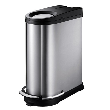Debenhams - Silver metal 20 litre and 16 litre recycling bin