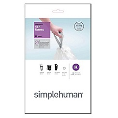 Simplehuman - Pack of 20 white 35-45 litre bin liners