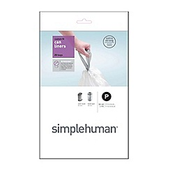 Simplehuman - Pack of 20 white 50-60 litre bin liners
