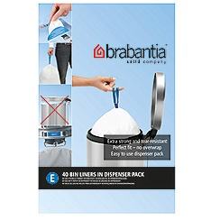 Brabantia - Forty 20 litre perfect fit bin liners size E