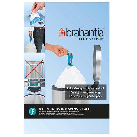 Brabantia - Forty 20 litre perfectfit slimline bin liners size F